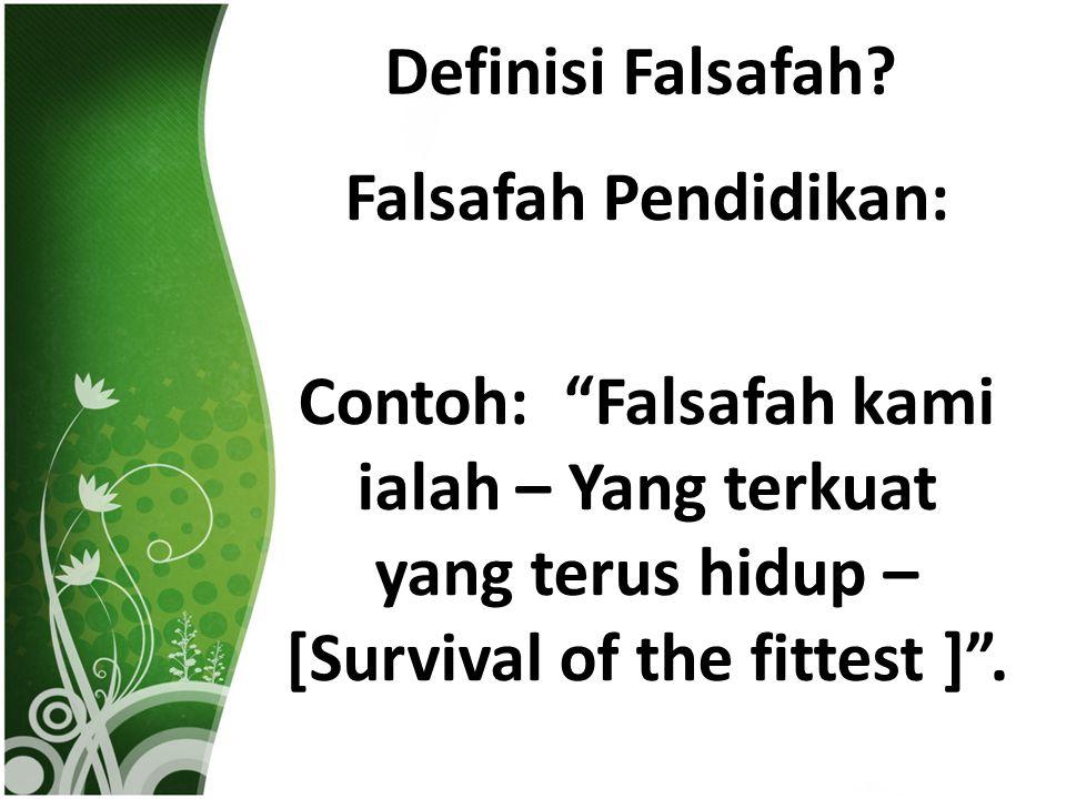 Definisi Falsafah.