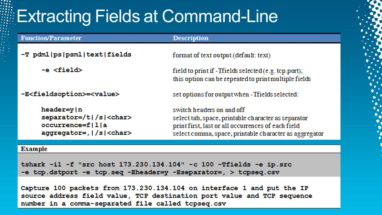 Extracting Fields at Command-Line