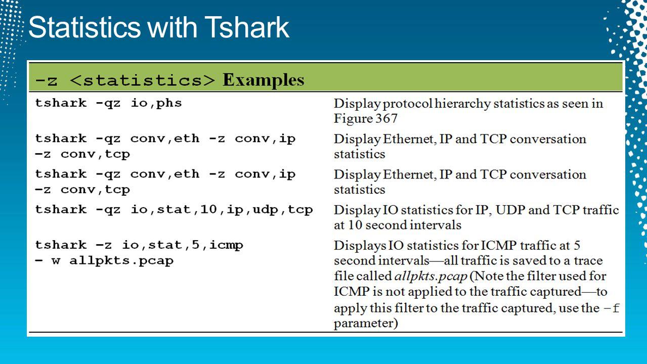 Statistics with Tshark
