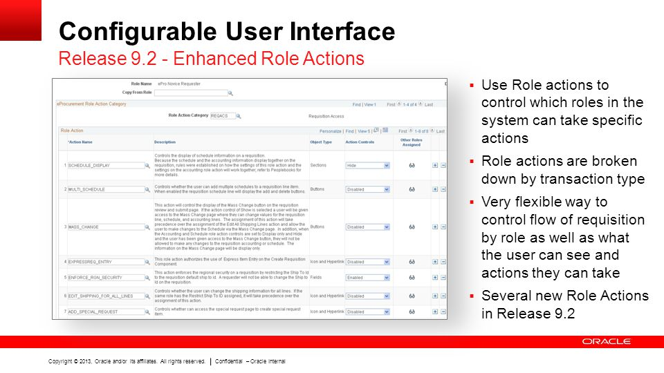Configurable User Interface