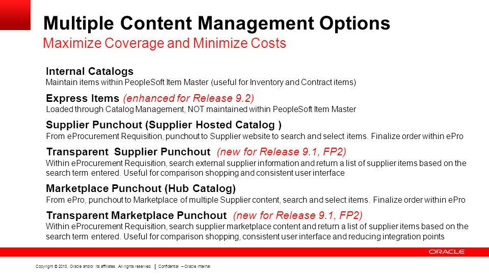Multiple Content Management Options