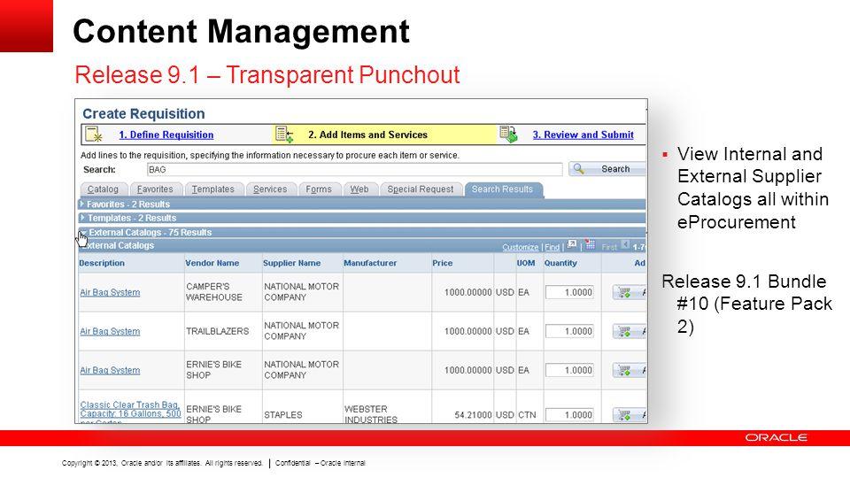 Content Management Release 9.1 – Transparent Punchout