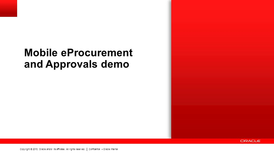 Mobile eProcurement and Approvals demo