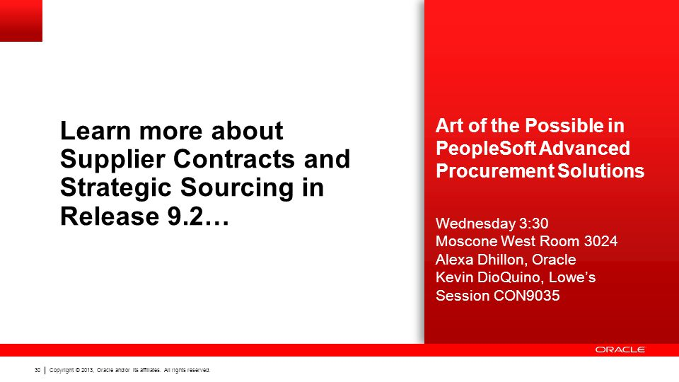 Learn more about Supplier Contracts and Strategic Sourcing in Release 9.2…