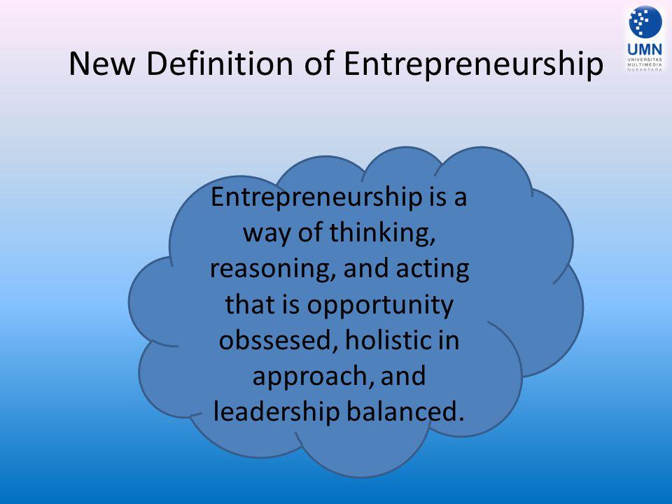 New Definition of Entrepreneurship