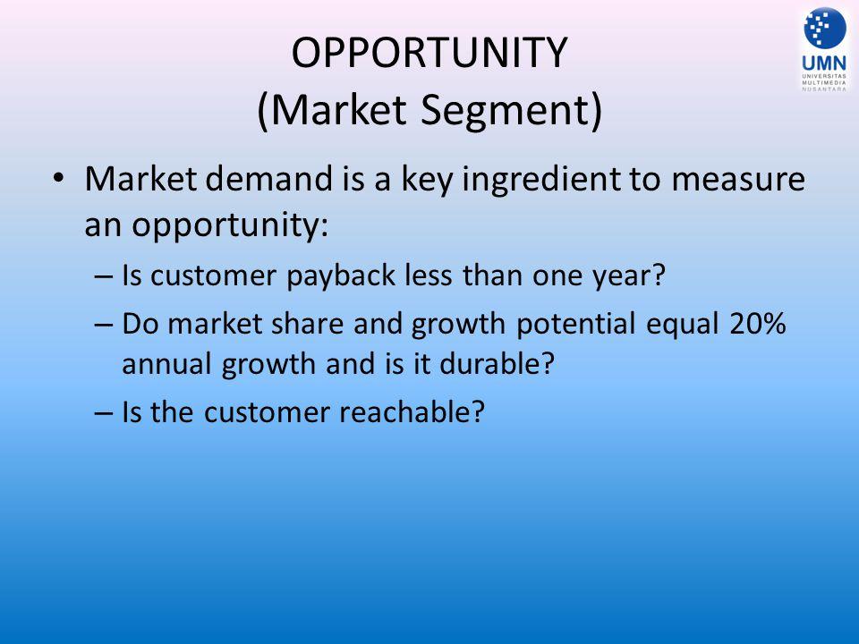 OPPORTUNITY (Market Segment)