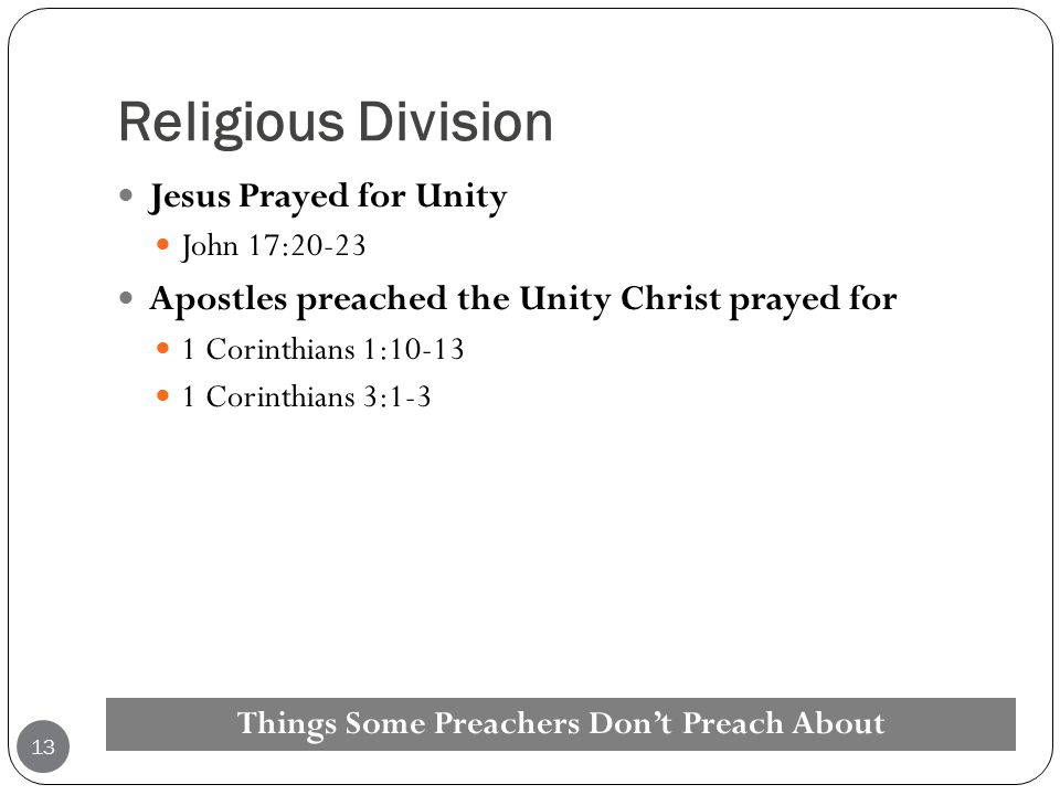 Things Some Preachers Don't Preach About