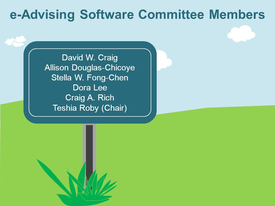 e-Advising Software Committee Members