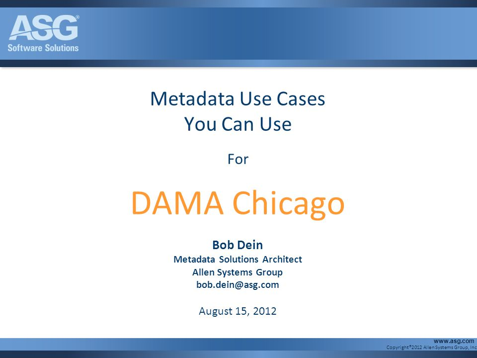 Metadata Solutions Architect