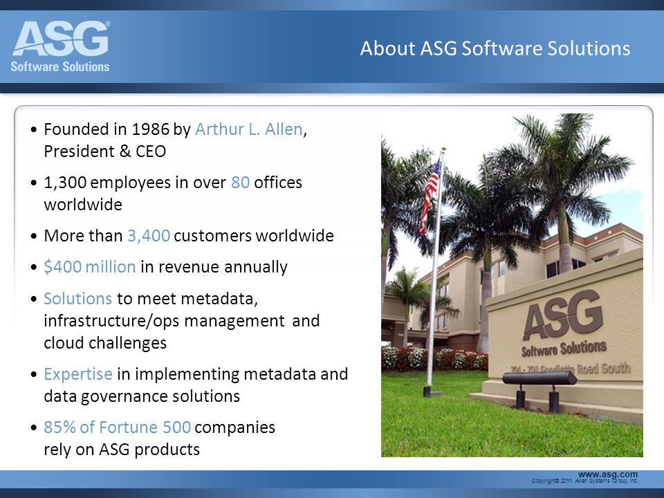 About ASG Software Solutions