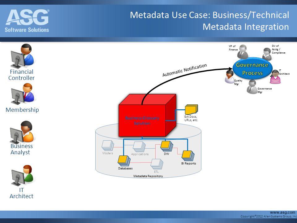 Metadata Use Case: Business/Technical Metadata Integration