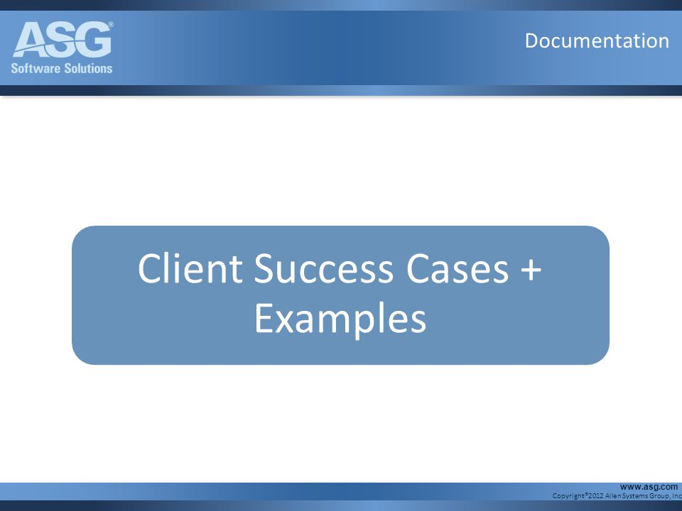 Client Success Cases + Examples