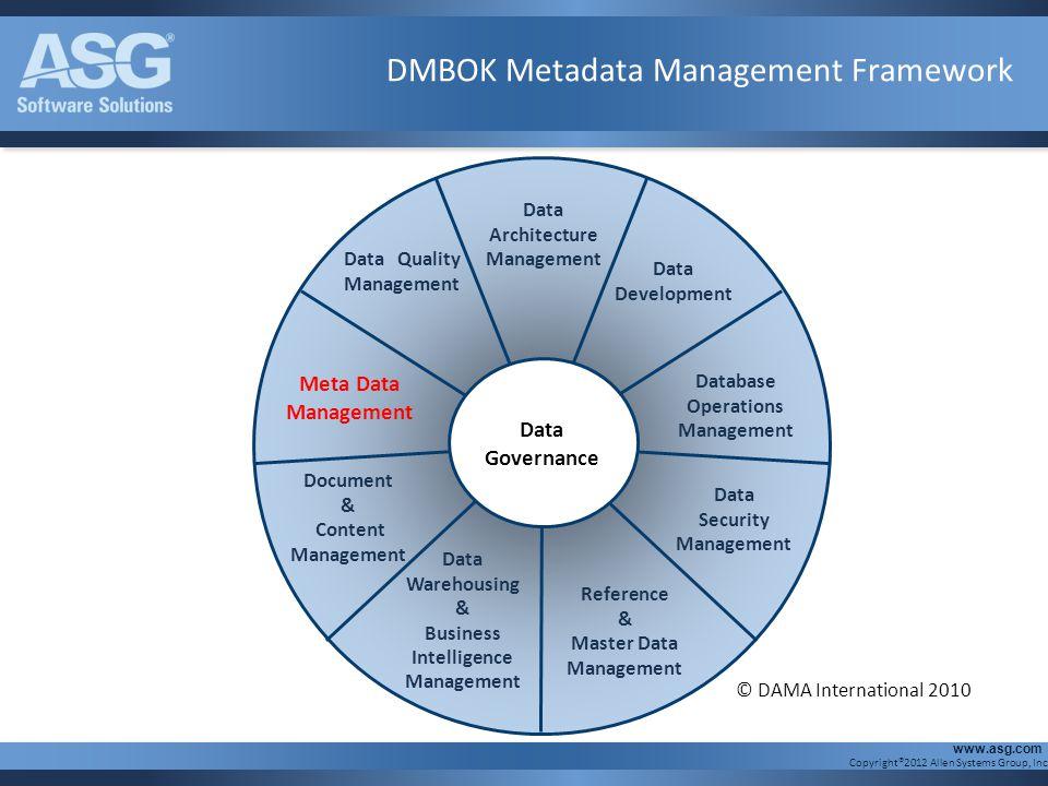DMBOK Metadata Management Framework