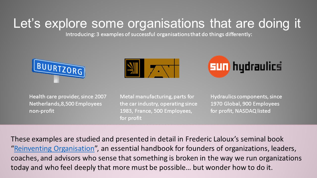 Let's explore some organisations that are doing it