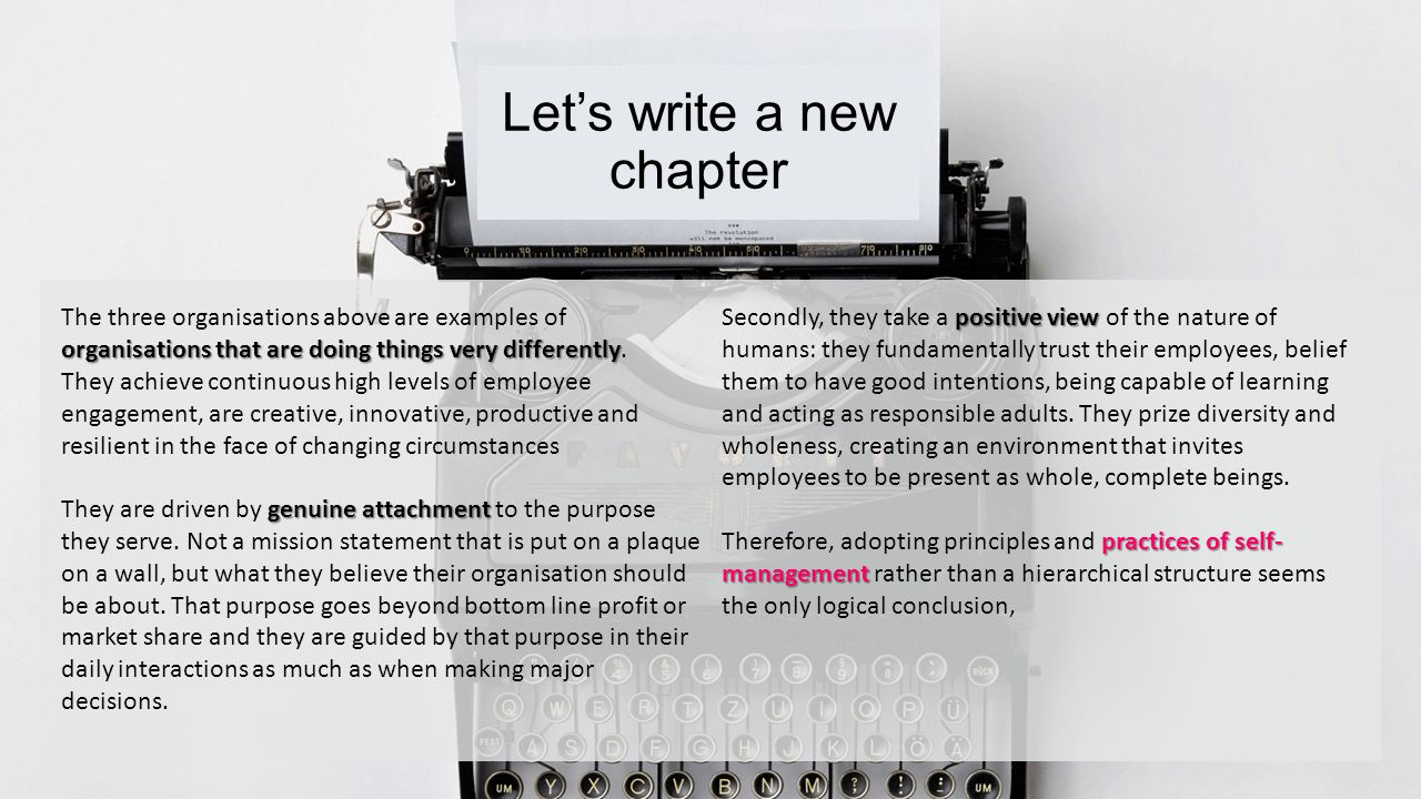 Let's write a new chapter