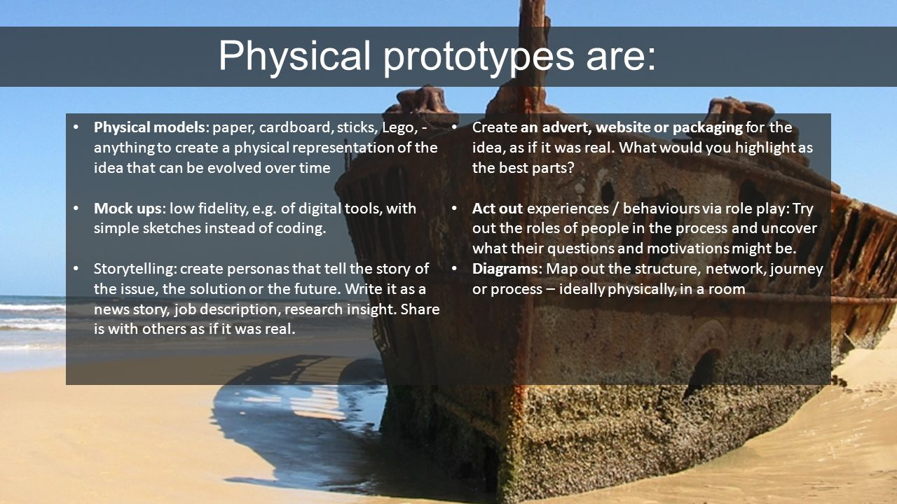 Physical prototypes are: