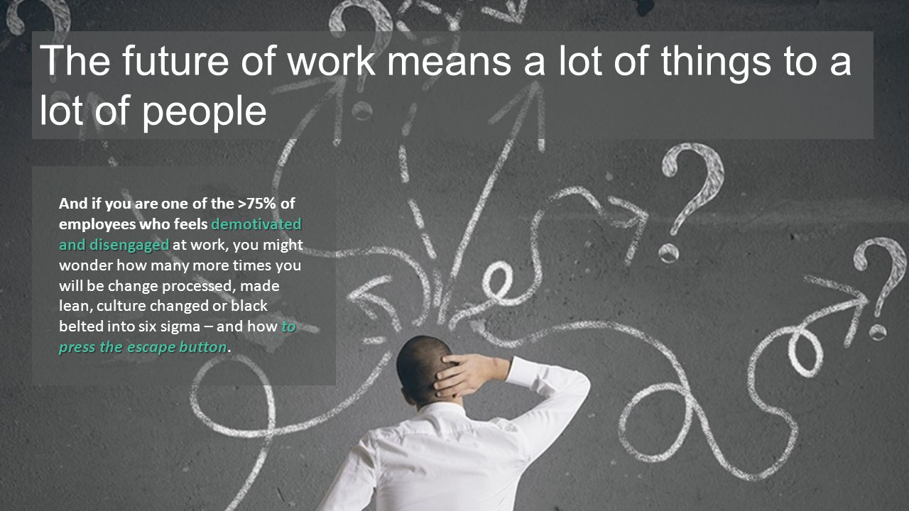 The future of work means a lot of things to a lot of people