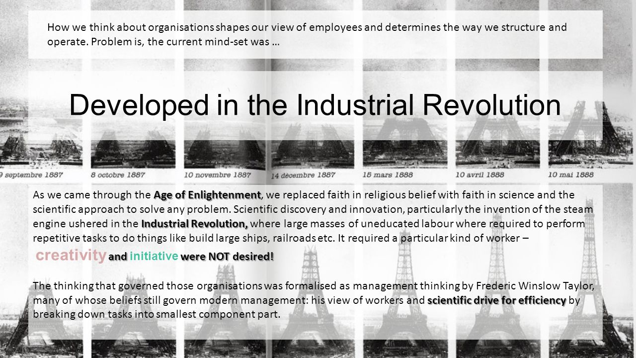 Developed in the Industrial Revolution