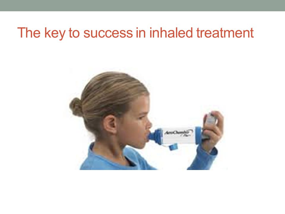 The key to success in inhaled treatment