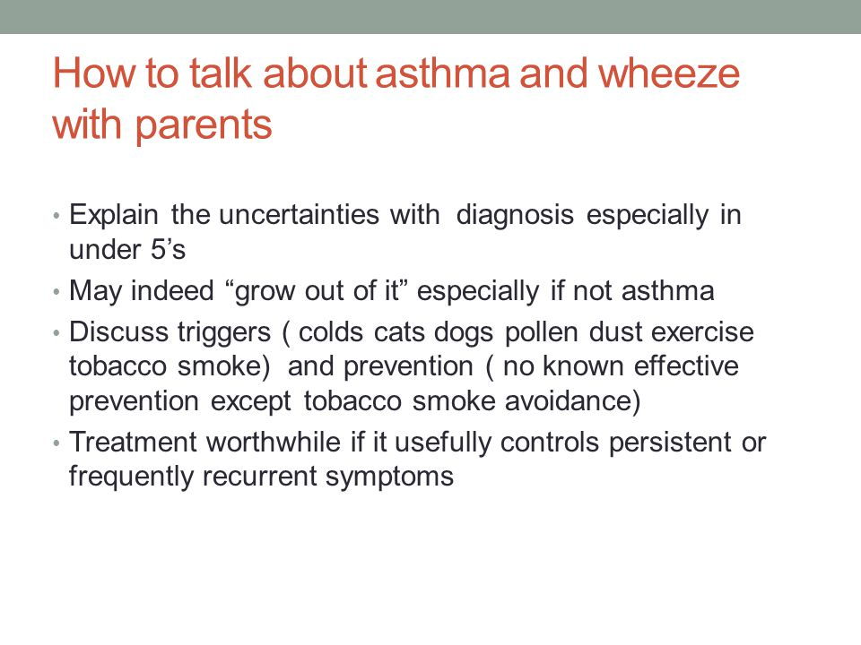 How to talk about asthma and wheeze with parents