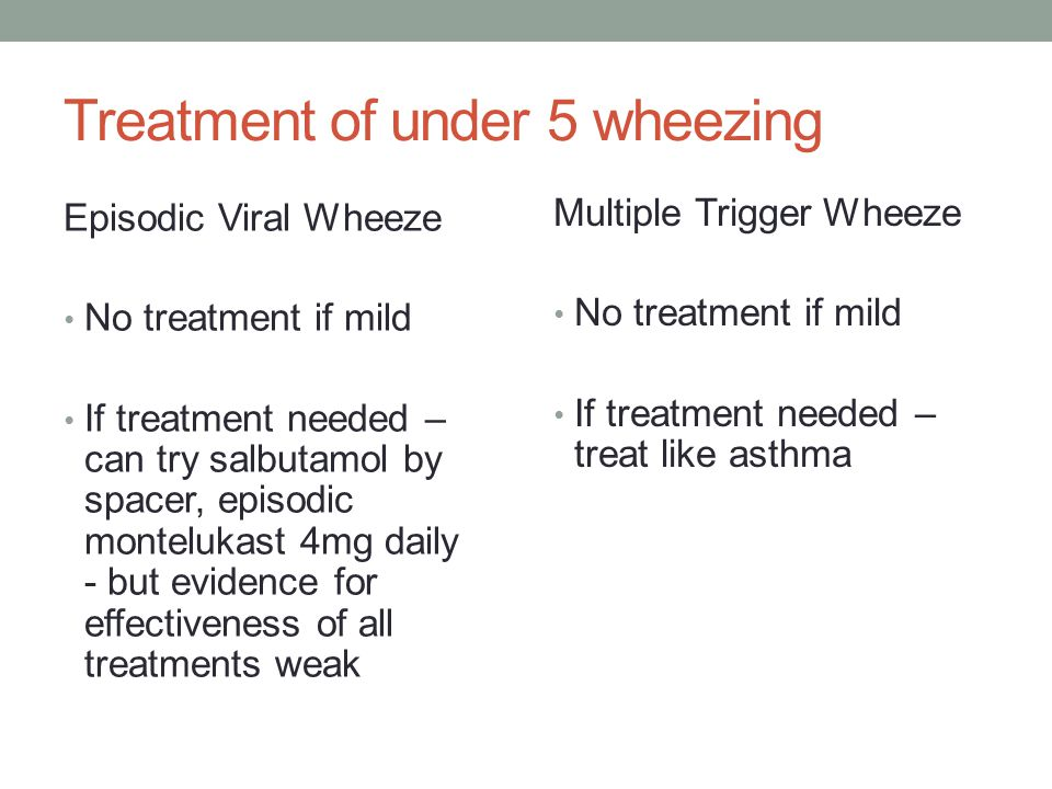 Treatment of under 5 wheezing