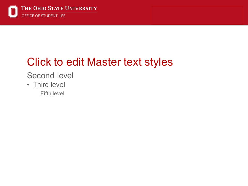 Click to edit Master text styles