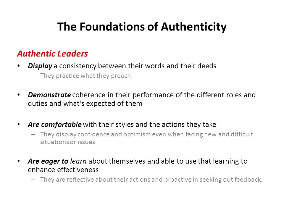 The Foundations of Authenticity