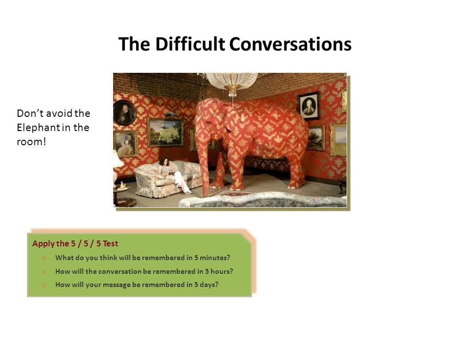 The Difficult Conversations