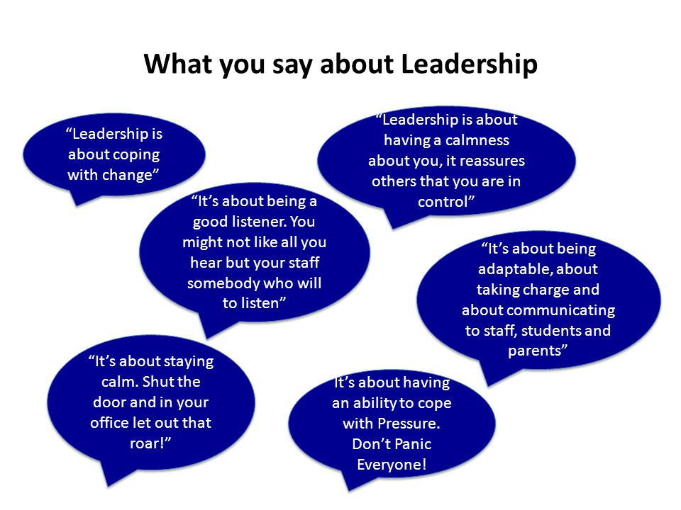 What you say about Leadership