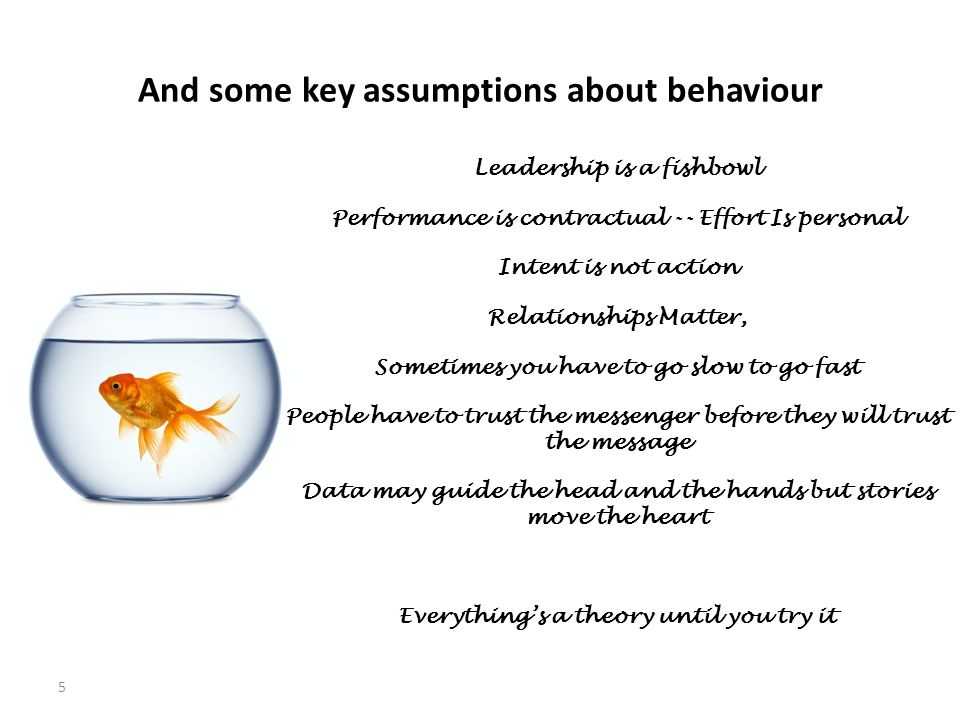 And some key assumptions about behaviour