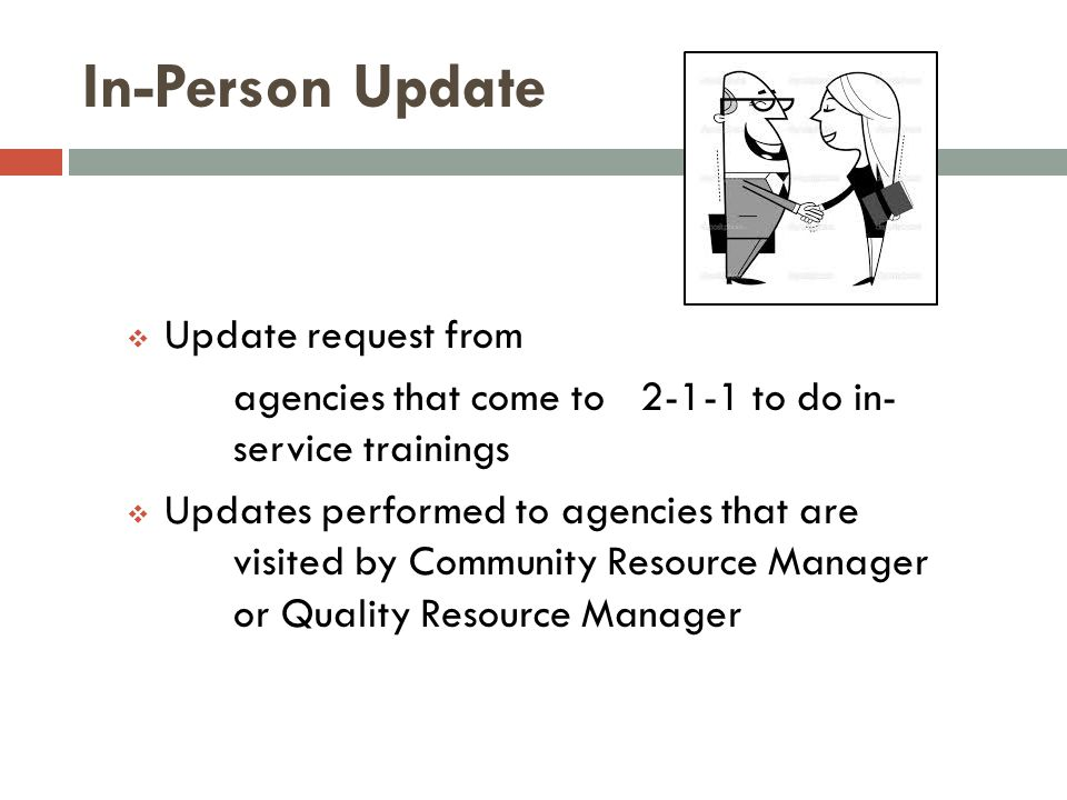 In-Person Update Update request from