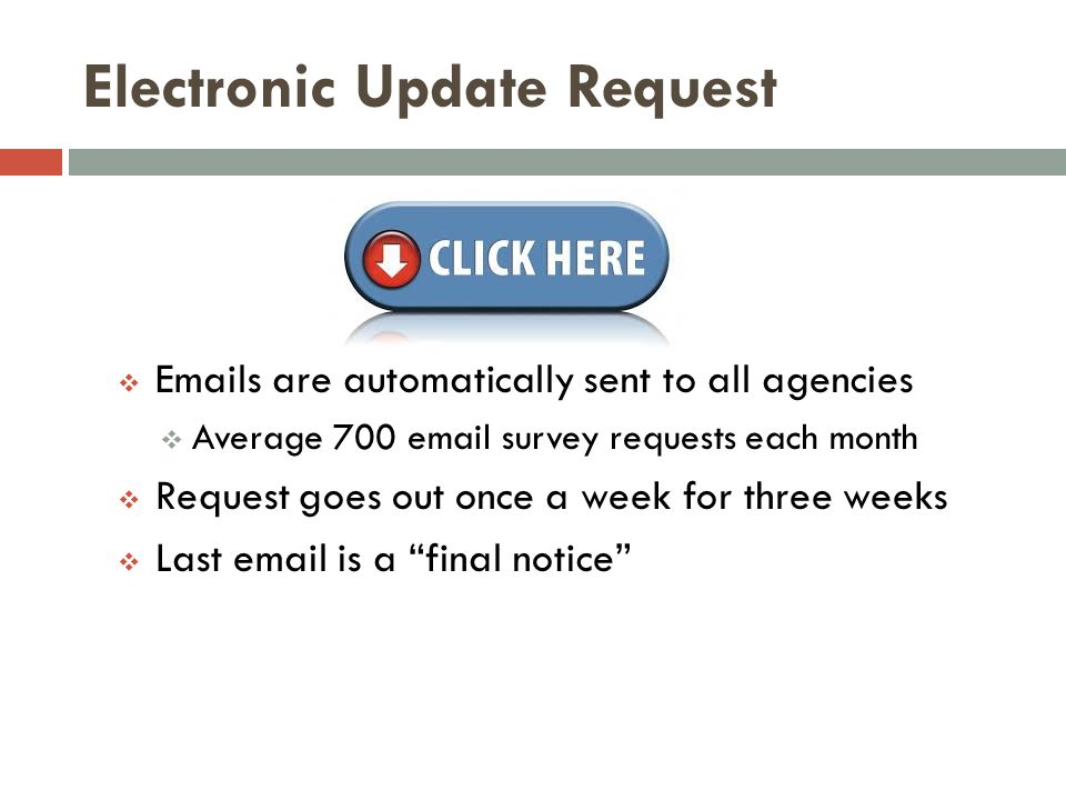 Electronic Update Request