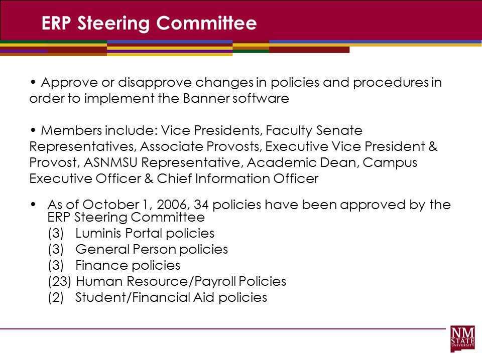 ERP Steering Committee