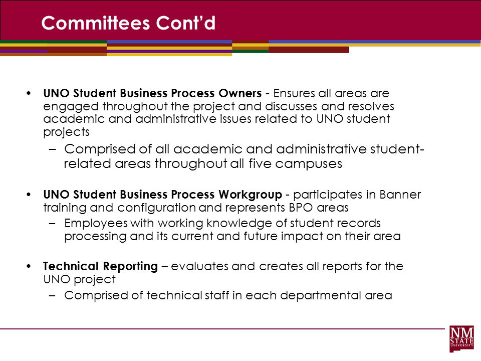 Committees Cont'd