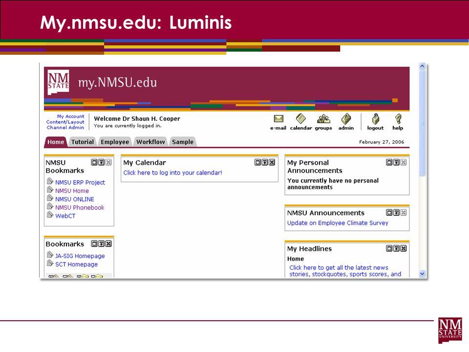 My.nmsu.edu: Luminis
