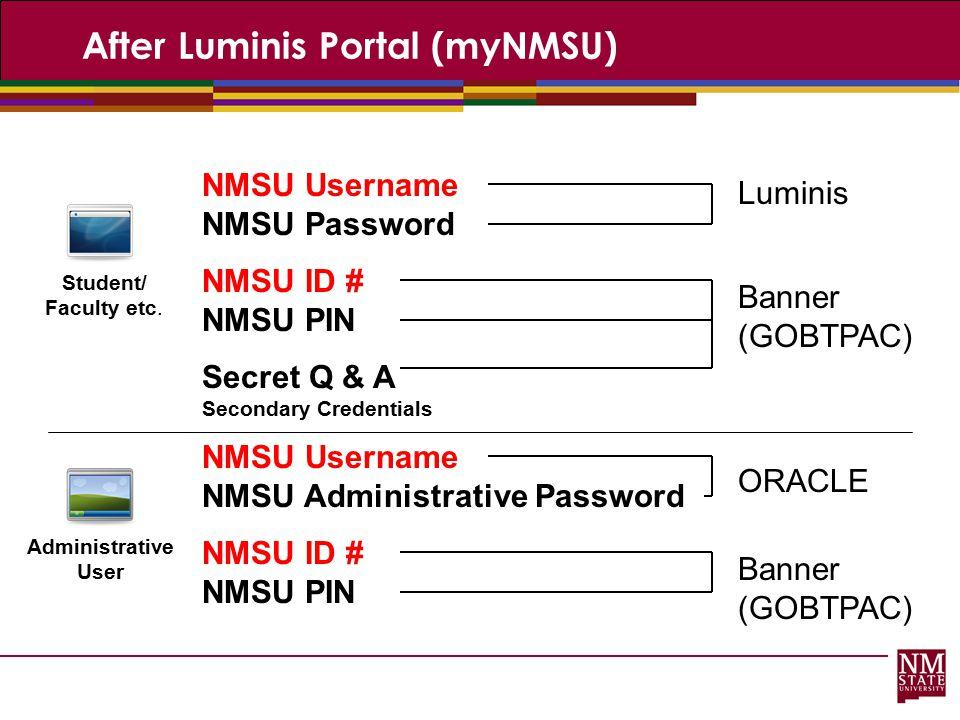 After Luminis Portal (myNMSU)