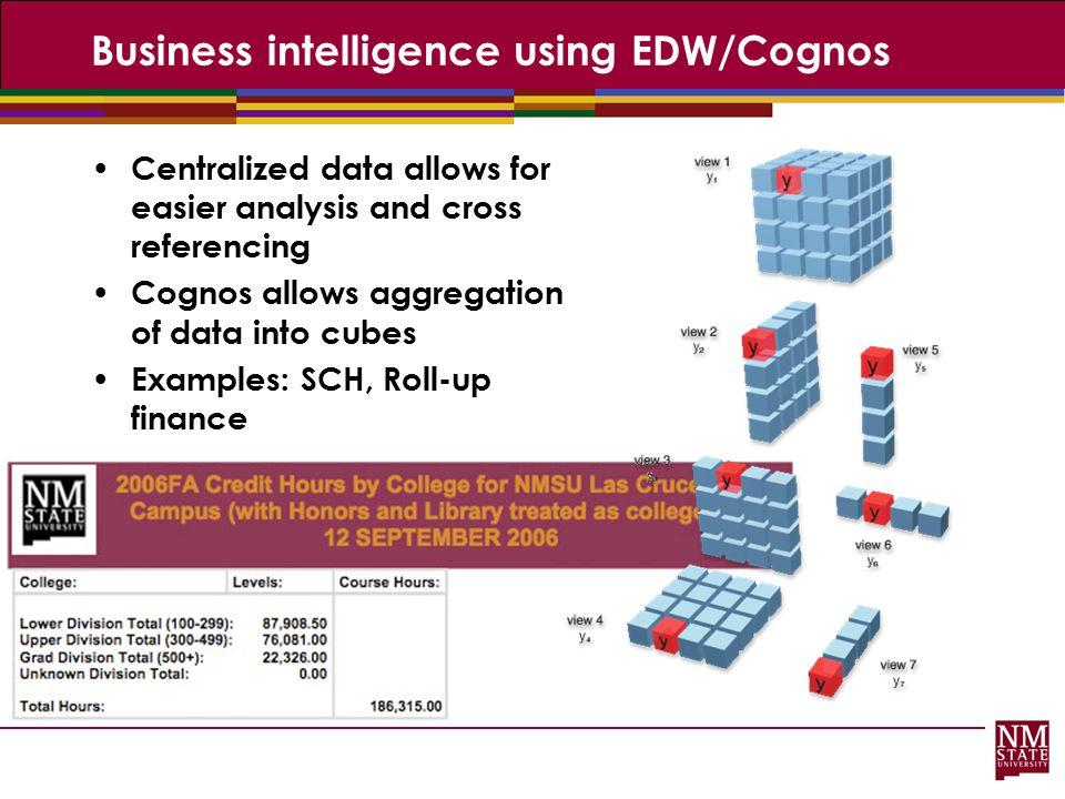 Business intelligence using EDW/Cognos