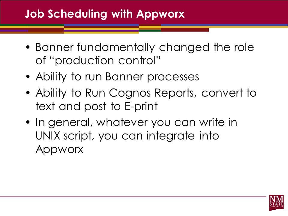 Job Scheduling with Appworx
