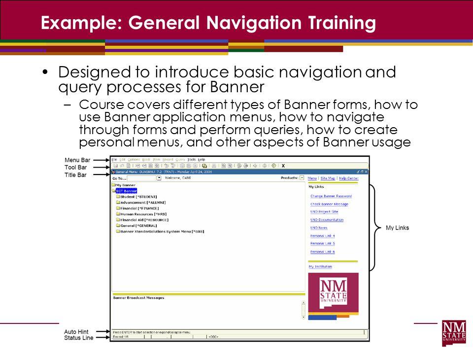 Example: General Navigation Training
