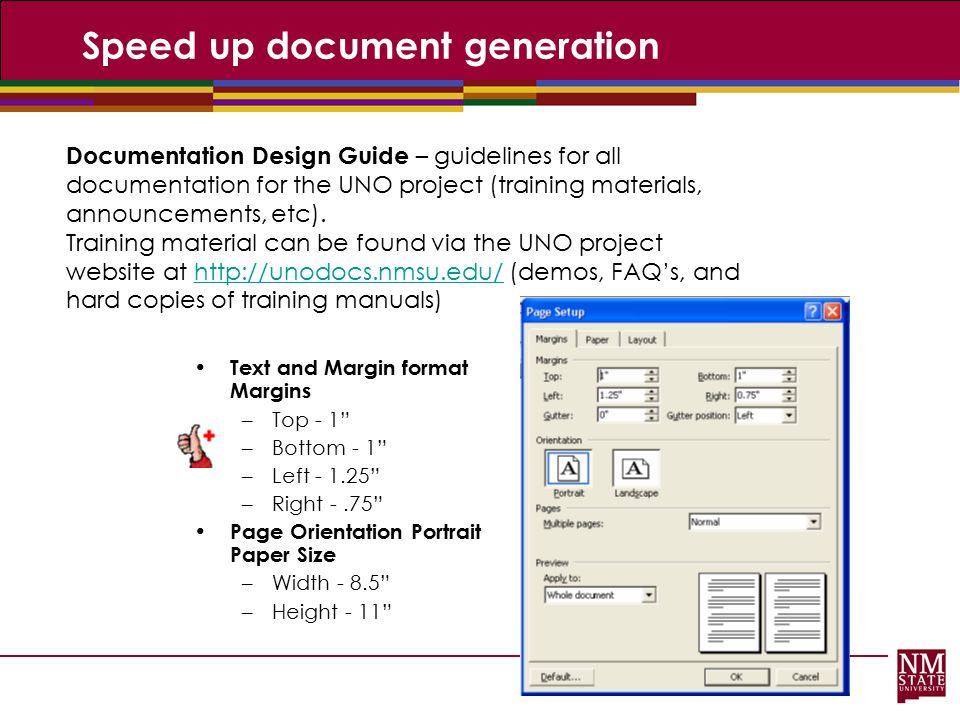 Speed up document generation