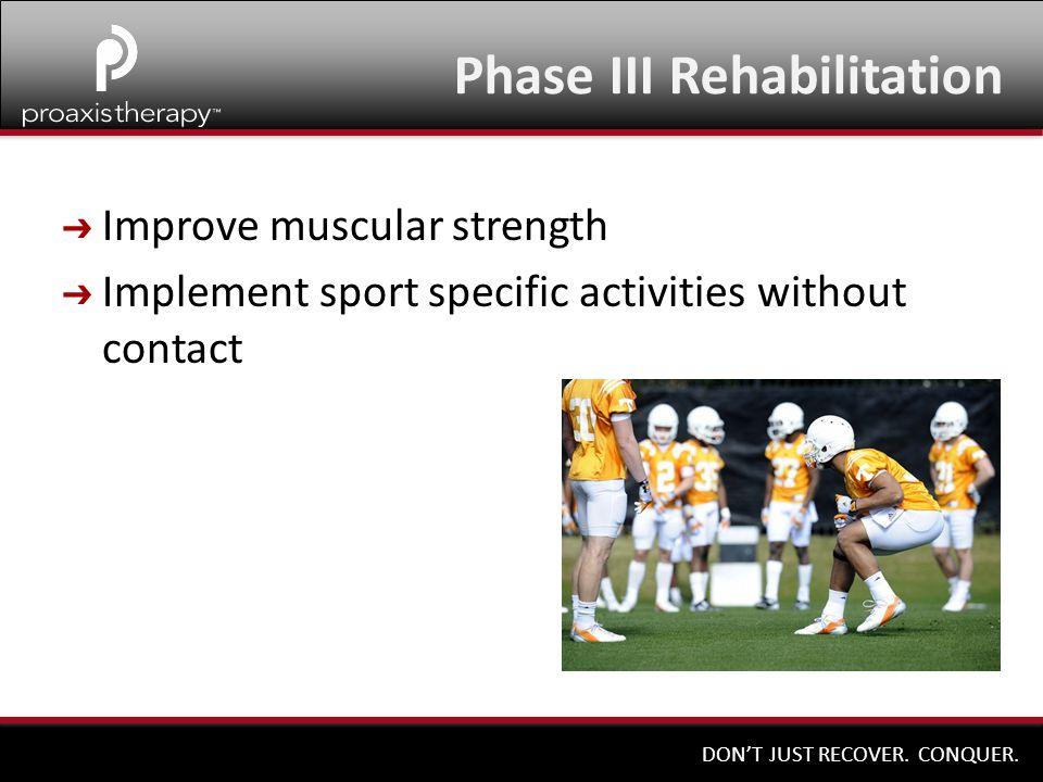 Phase III Rehabilitation
