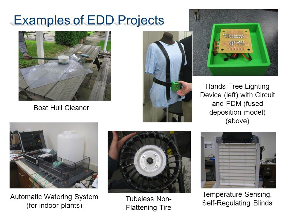 Examples of EDD Projects