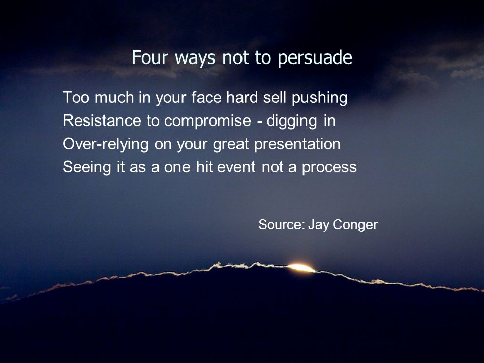 Four ways not to persuade