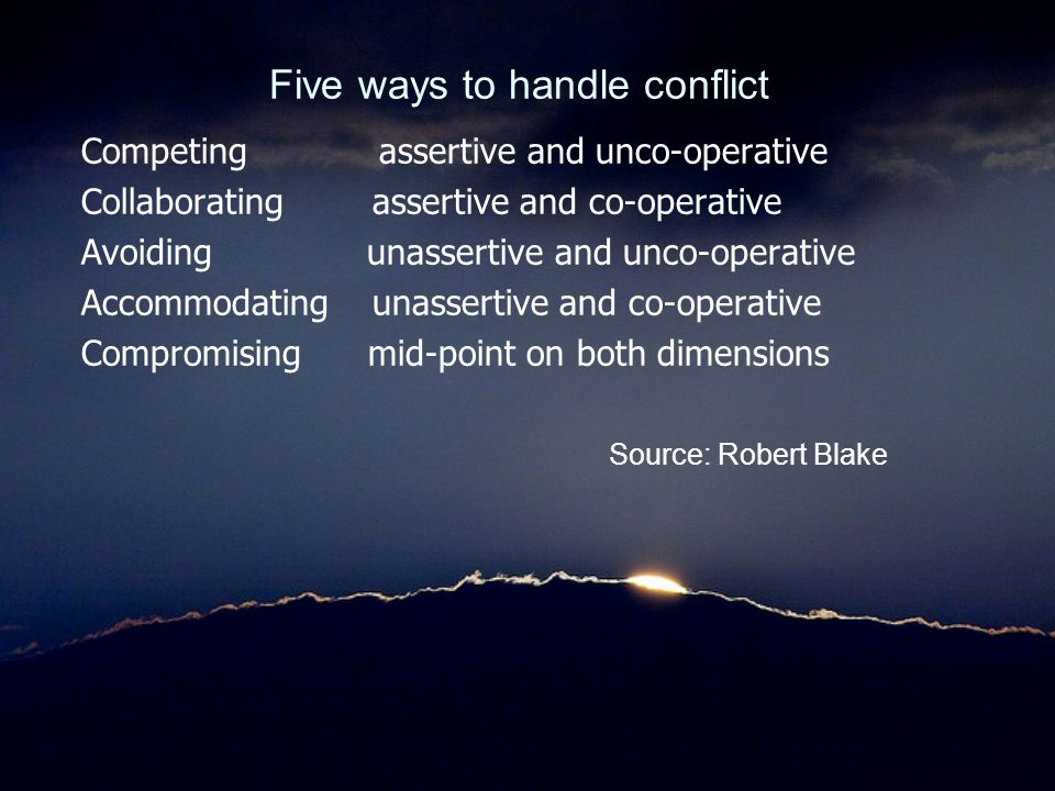 Five ways to handle conflict