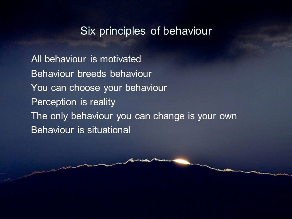 Six principles of behaviour
