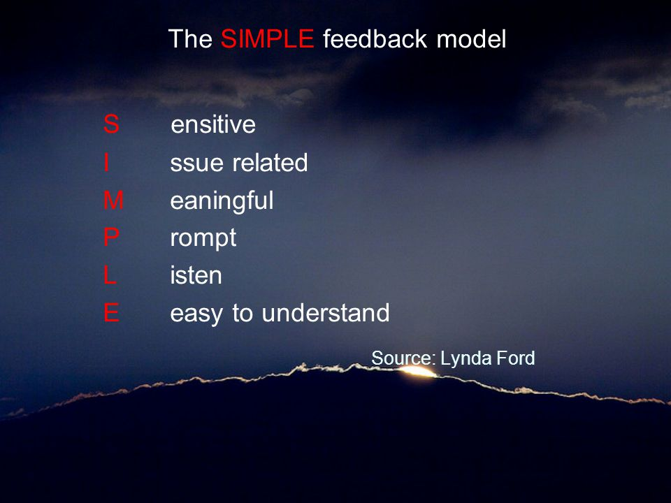 The SIMPLE feedback model