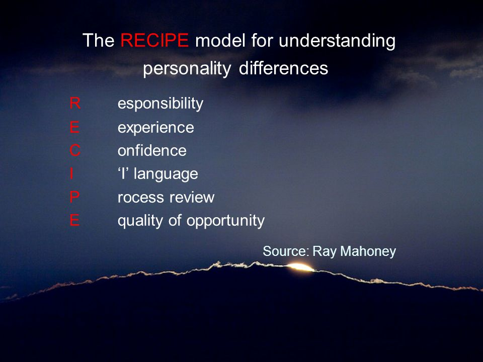 The RECIPE model for understanding R esponsibility