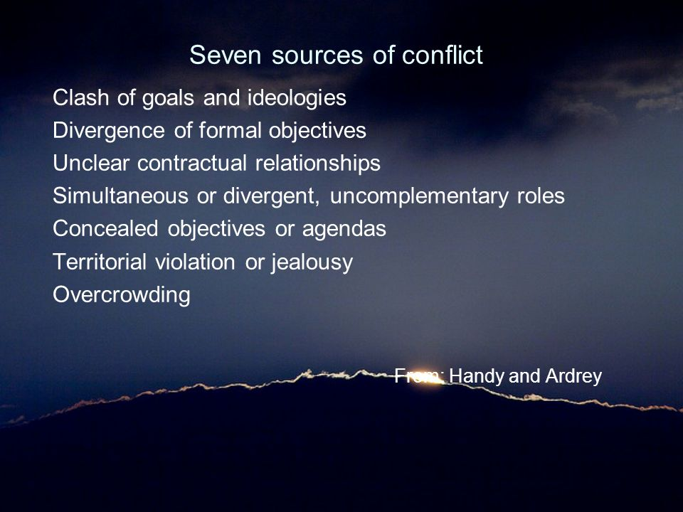 main sources of relationship conflict