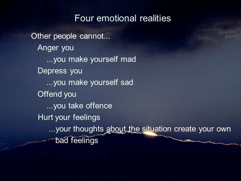 Four emotional realities