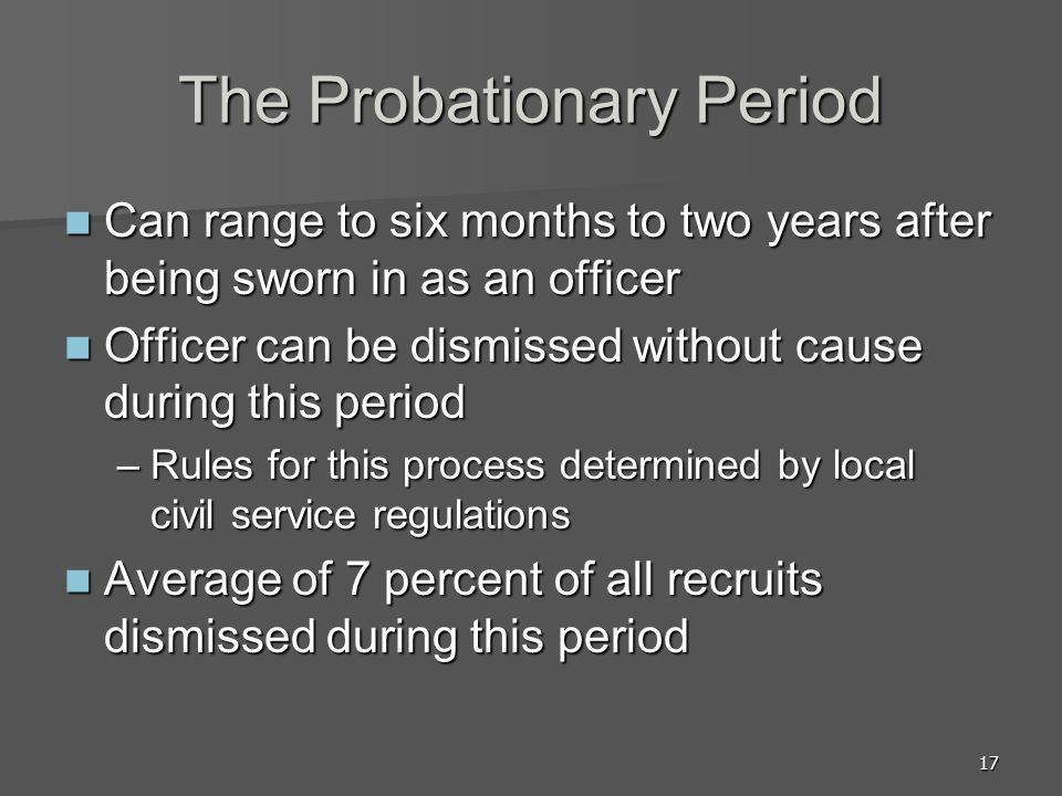 The Probationary Period